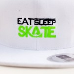 Eat Sleep Skate - White Trucker